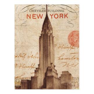 Chrysler vintage construisant à New York Carte Postale