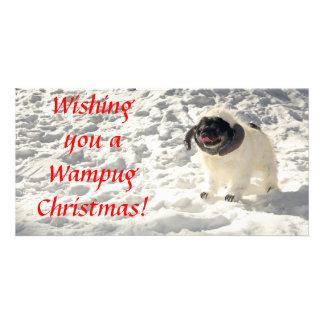 Chubbs la carte de Noël de Wampug Modèle Pour Photocarte
