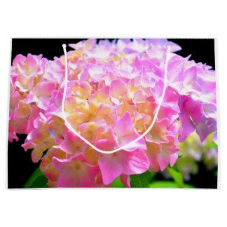 Chuchotement de matin - hortensia grand sac cadeau
