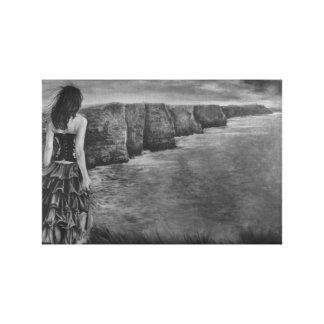 Chuchotement - les falaises de Moher par Gary Rudi Toile Tendue