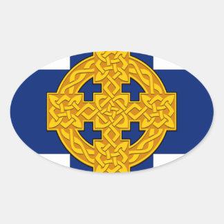 Church_in_Wales_flag Sticker Ovale