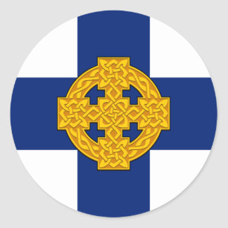 Church_in_Wales_flag Sticker Rond