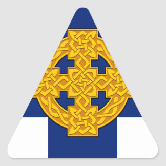 Church_in_Wales_flag Sticker Triangulaire
