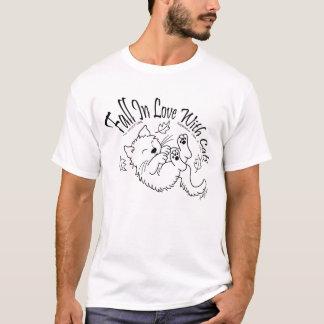 Chute dans l'amour avec des chats 2009 T-shirts