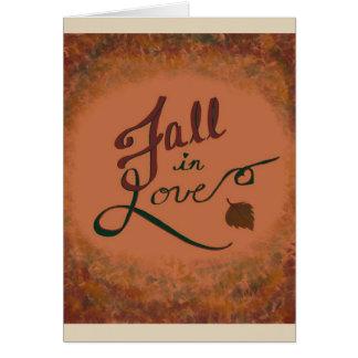 Chute dans l'amour : blanc de carte de voeux