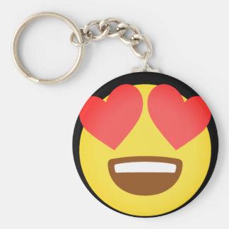 Chute dans l'amour Emoji Porte-clé Rond