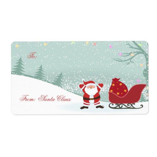 Chute de neige de Noël + Étiquettes de cadeau de
