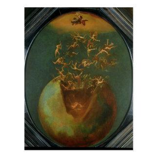 Chute de Satan et les anges rebelles du ciel Carte Postale
