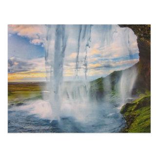 Chute d'eau en d'Islande carte postale