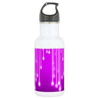 Chute d'étoiles de rose bouteille d'eau