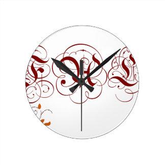 chute horloge ronde