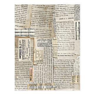 Chutes de papier vintages - verticale carte postale
