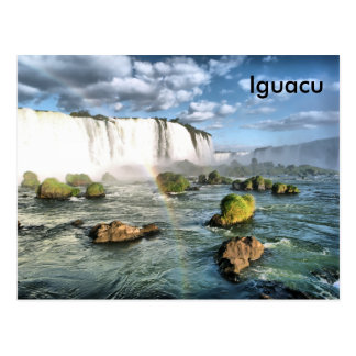 Chutes d'Iguacu de panorama Carte Postale