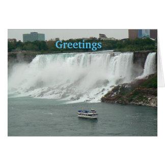 Chutes du Niagara du côté canadien Cartes De Vœux