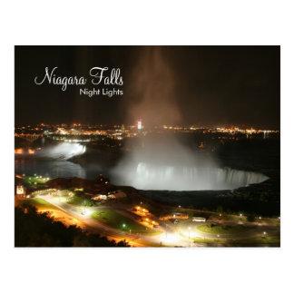 Chutes du Niagara, lumières de nuit - cartes