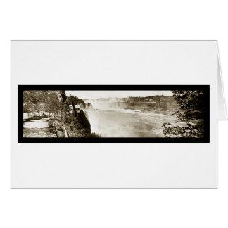Chutes du Niagara, photo 1909 de NY Carte De Vœux