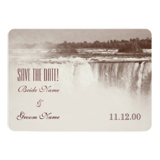 Chutes du Niagara vintages épousant l'invitation Carton D'invitation 12,7 Cm X 17,78 Cm
