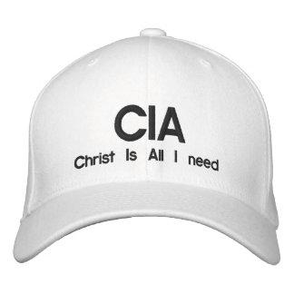 CIA, le Christ est toute que j'ai besoin Casquette Brodée