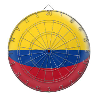 Cible avec le drapeau colombien de la Colombie de Jeux De Fléchettes