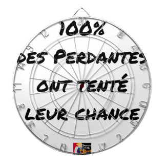 CIBLE DE FLÉCHETTES 100% DES PERDANTES ONT TENTÉ LEUR CHANCE