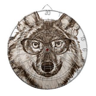 Cible De Fléchettes Art de ballot de loup