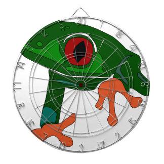 Cible De Fléchettes Bande dessinée de grenouille verte