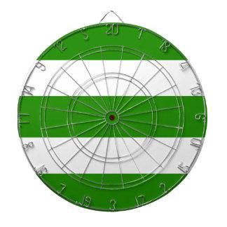 Cible De Fléchettes Bandes - vert et blanc