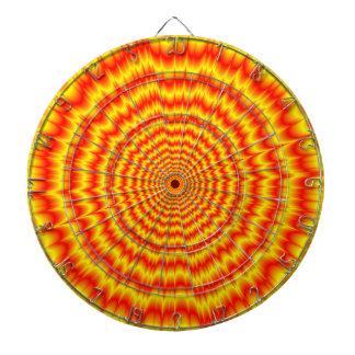 Cible De Fléchettes Big Bang en rouge et le jaune