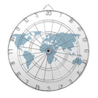 Cible De Fléchettes Carte du monde
