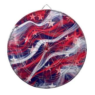 Cible De Fléchettes Cible de cage en métal de drapeau américain