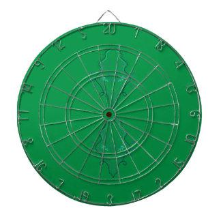 Cible De Fléchettes Conception de vert d'émeraudes