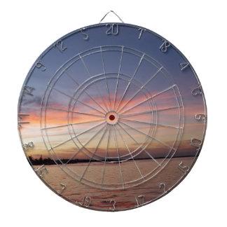 Cible De Fléchettes Coucher du soleil au-dessus de baie de la Floride,