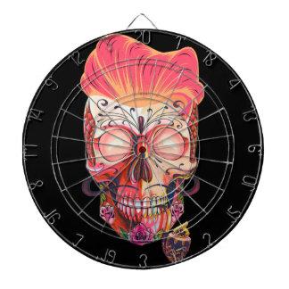 Cible De Fléchettes crâne rose