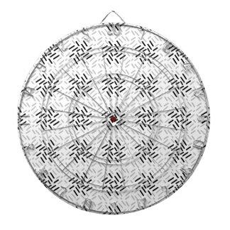 Cible De Fléchettes Dessin géométrique gris, blanc et noir