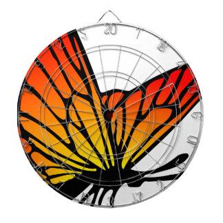Cible De Fléchettes Dessin orange rouge de papillon