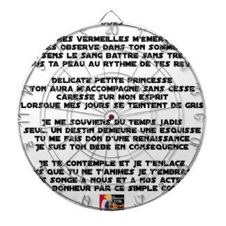 Cible De Fléchettes DORS - Poème - Francois Ville