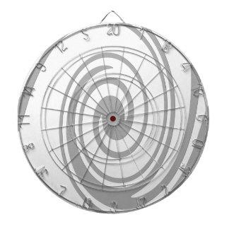 Cible De Fléchettes Écoulement en spirale gris de motif de gauche à