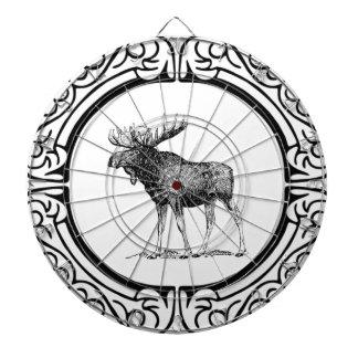 Cible De Fléchettes grand art d'orignaux de taureau