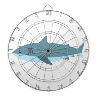 Cible De Fléchettes Grand style de primitif de requin blanc