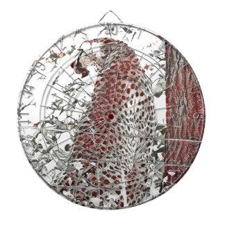 Cible De Fléchettes Guépard par l'arbre, effet japonais d'art