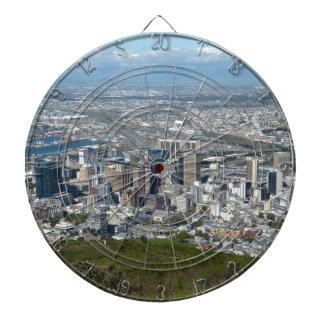 Cible De Fléchettes Horizon de ville de Cape Town