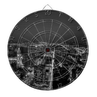 Cible De Fléchettes Horizon noir et blanc de Philadelphie