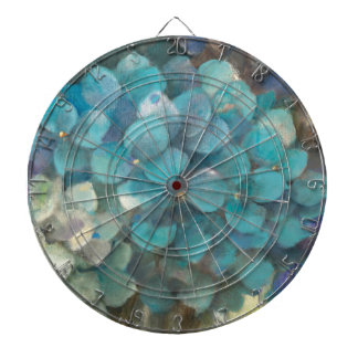 Cible De Fléchettes Hortensia de turquoise
