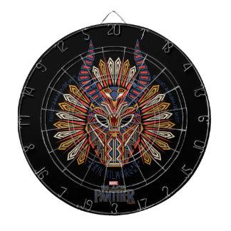 Cible De Fléchettes Icône tribale noire de masque de la panthère  