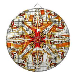 Cible De Fléchettes Jaune génial et orange Patterm abstrait