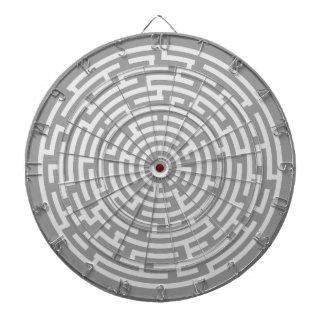 Cible De Fléchettes Labyrinthe gris