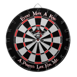 Cible De Fléchettes Le Roi Dartboard de pirate