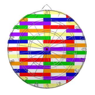 Cible De Fléchettes Ligne multicolore conception