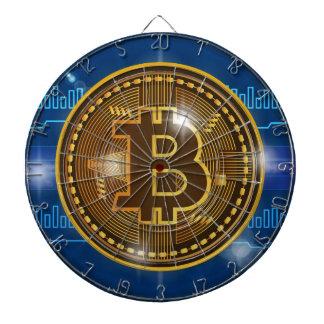 Cible De Fléchettes Logo de Bitcoin et conception frais de graphique