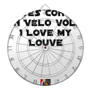 Cible De Fléchettes Lové contre un Vélo Volé, I Love my Louve